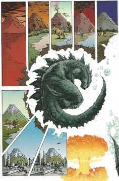 I want this Godzilla as a tattoo.  It's begging for it to be a tattoo