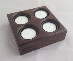 Moeras eik kaars houder voor 4 thee licht kaarsen 3300BC