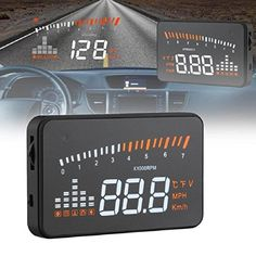 "Kshioe X5 3"" Universal Multi-function Vehicle-mounted Head Up Display Hud Car Windshield OBD II EOBD System Model Compatible with All Cars"