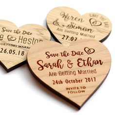 Wooden Save The Date Evening Magnets Custom Rustic Heart Wedding Invitation Heart Wedding Invitations, Rustic Invitations, Save The Date Magnets, Tie The Knots, Newlyweds, Getting Married, Envelope, My Etsy Shop, Dating