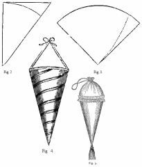 Victorian cone; If we made these, put goodies in them, and hung them up (in a tree) they would make good party favors-- Aly Broadnax