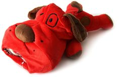 DEI Plush Pooch Lucky Dog Collection with 3 Tennis Balls, Red >>> New and awesome dog product awaits you, Read it now  : Dog Toys