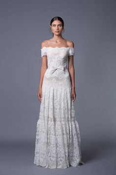 Ella Off Shoulder Lace Wedding Dress from Lihi Hod's 2017 Collection