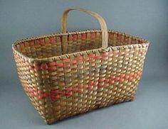 Old Michigan Indian Ash Splint Basket