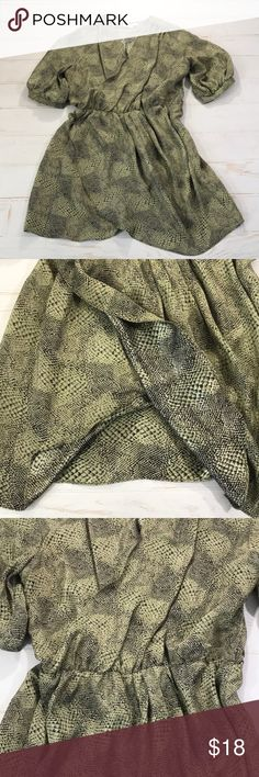 Amanda Uprichard 100% Silk  Snake Skin Wrap Dress Amanda Uprichard 100% Silk Green Snake Skin Print Wrap Dress  Size 2 (refer to measurements)  Good condition!  Pit To Pit: 22 inches  Neck To Bottom: 35 inches  Sleeve:17 inches  Waist:15 inches  All measurements are taken with items laying flat!  If you have any questions please message me thanks!  Check out my other listings! Amanda Uprichard Dresses