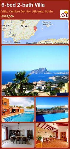 6-bed 2-bath Villa in Villa, Cumbre Del Sol, Alicante, Spain ►€515,000 #PropertyForSaleInSpain