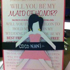 DIY bridesmaid invites :)