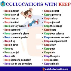 Collocations in English! Collocation refers to a natural combination of words that are closely affiliated with each other. English Articles, English Tips, English Study, English Lessons, Language Study, English Language Learning, Teaching English, Language Arts, English Grammar Rules