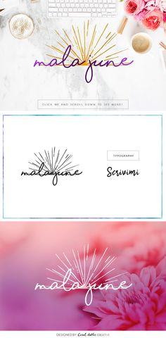Mala June Premade Logo by Coral Antler Creative on @creativemarket