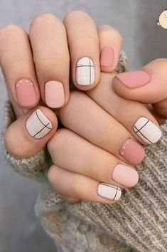 cute spring nail designs ideas 2018 # glitter gel nail designs for short nails for spring 2019 47 – New beautiful spring nail art designs 2019 – Cute Spring Nails, Spring Nail Art, Nail Designs Spring, Cool Nail Designs, Matte Nail Designs, Spring Nail Colors, Short Nail Designs, Summer Nails, Line Nail Designs