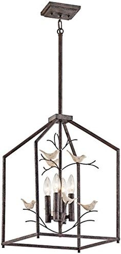 Best Bathroom Light Fixtures | Kichler 43588RT 4Ligh Indoor Lantern Pendants *** Check out this great product. Note:It is Affiliate Link to Amazon.