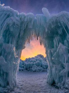 Ice Castles. Steamboat Springs, Colorado