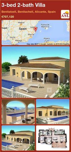 3-bed 2-bath Villa in Benitatxell, Benitachell, Alicante, Spain ►€707,120 #PropertyForSaleInSpain