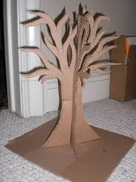 Image result for how to make a cardboard tree in 3d