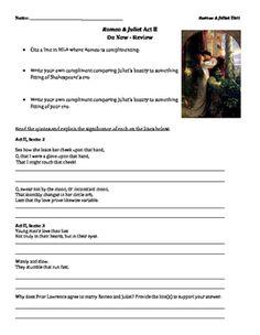 english worksheet romeo and juliet the newspaper article key alt pinterest worksheets. Black Bedroom Furniture Sets. Home Design Ideas