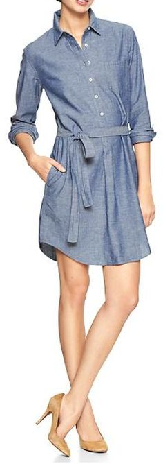 chambray shirt dress  http://rstyle.me/~1xNq8