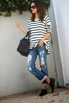 "Pinned from Pinterest user: chicagoinparis. From ""Ways to Wear it: Breton & Stripes"" Board. Great fashion tips customized by each article of clothing in your wardrobe."