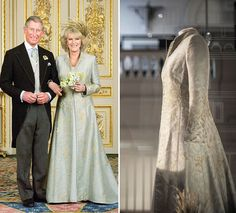 Charles and Camilla de Cornualles married on April 2005 in Windsor Castle. Anna Valentine and Antonia Robinson were the designers of the gown and Philip Treacey of the headpiece.