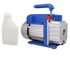 Features: 3 CFM Single-Stage Rotary Vane Vacuum Pump High Efficiency and Low Noise Heavy-duty Aluminum Alloy Casing Direct Drive Motor Allowing Easy Starting and is Maintenance Free Oil Sight Glass Fo...