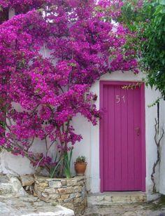 Puerta rosa, espectacular....