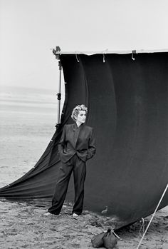 Catherine Deneuve, Deauville, France, 1990, Vogue Paris.  Peter Lindbergh, courtesy of Peter Lindbergh, Paris/Gagosian Gallery