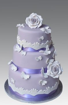Lilac Lace Wedding Cake ~ all edible