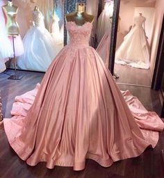 On Sale Vogue Pink Prom Dresses Ball Gown Pink Strapless Appliques Sweetheart Sweep Train Satin Evening Dresses Uk Evening Dresses Uk, Ball Gowns Evening, Long Prom Gowns, Ball Gowns Prom, A Line Prom Dresses, Ball Dresses, Dress Long, Wedding Dresses, Gown Wedding