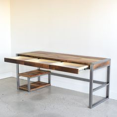 Reclaimed Wood Desk / 3-Drawer + Shelving - WHAT WE MAKE