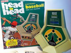 Coleco Head to Head Electronic Baseball Hand Held Video Game with Original Box and Instructions 1980 Baseball Video Games, Arcade Games, Vintage Toys, Holding Hands, Hold On, Childhood, Play, Electronics, The Originals