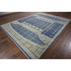 Manhattan Navajo Design and Ivory Gabbeh Hand-knotted Area Rug