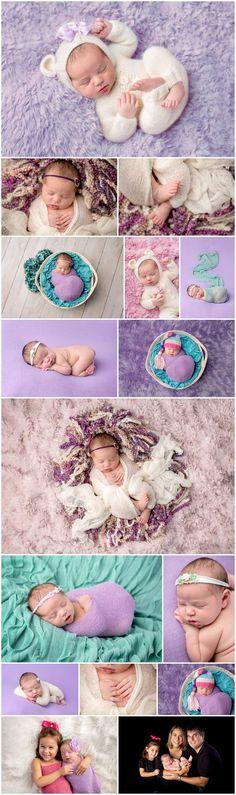 Alyssa's Purple & Teal Newborn Session | 9 Days
