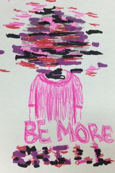 Be more chill. A new musical on broadway. This is just a little drawing i did of the cover