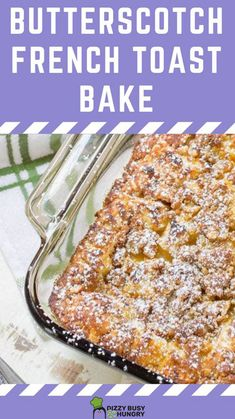 Breakfast Bread Recipes, Delicious Breakfast Recipes, Vegetarian Breakfast, Brunch Recipes, French Toast Bake, French Toast Casserole, Easy To Make Breakfast, Breakfast Time, Breakfast Ideas