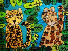 Forest Art, Jungle Art, Animal Art, African Art Projects, Frog Art, Whimsical Paintings, Jungle Art Projects