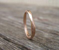 Mobius Wedding Ring 3mm Mobius Ring In Rose Gold Mobius by Benati