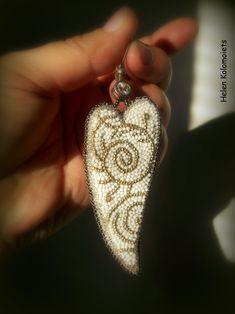 "By Helen Kolomoiets. Bead embroidery. Елена Коломоец. Cерьги ""Два ангельских крыла"". Вышивка бисером.   #АнгельскиеКрылья #вышивкабисером #бисерныесерьги #серьгиизбисера #ручнаяработа #эксклюзив  #BeadsEarrings #BeadEmbroidery #BeadEmbroideryEarrings  #ImitationJeweleryVintage #Exclusive  #Handwork #Beds #AngelWings Angel Wings, Beadwork, Earrings, Jewelry, Ear Rings, Stud Earrings, Jewlery, Bijoux, Jewerly"