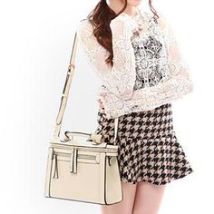 Faux-Leather Satchel from #YesStyle <3 Axixi YesStyle.com