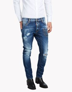 Tidy Biker Jeans - 5 Pockets Men - Dsquared2 Official Online Store