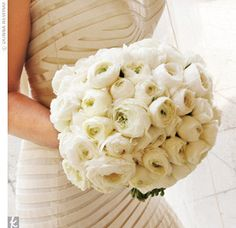 LOVE this bouquet of ranunculus | theknot.com