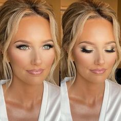 Wedding Makeup For Blue Eyes, Wedding Eye Makeup, Blue Eye Makeup, Bridal Hair And Makeup, Wedding Hair And Makeup, Wedding Beauty, Wedding Make Up, Skin Makeup, Dream Wedding