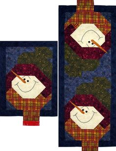 Looking for your next project? You're going to love Let it Snow Table Runner Quilt Pattern by designer PGPeddler.