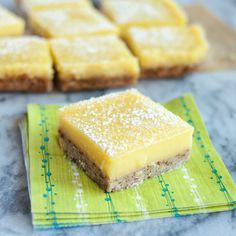 Been looking for the perfect lemon bars and I think this might be the secret, making the curd seperately, with no flour or cornstarch, and adding only for the last 8-10 minutes of the bake. Recipe: Heavenly Lemon Bars with Almond Shortbread Crust — Dessert Recipes from The Kitchn
