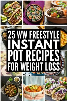 25 simple-to-make Weight Watchers instant pot recipes with points for on-the-go weight loss that tastes delicious year-round! 25 Weight Watchers Instant Pot Recipes for Easy Weight Loss - 25 Weight Watchers Instant Pot Recipes Weight Loss Meals, Weight Watchers Meals, Easy Weight Loss, Lose Weight, Weight Watchers Vegetarian, Reduce Weight, Ww Recipes, Cooking Recipes, Healthy Recipes