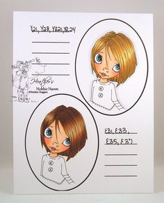 copic marker hair colors | Heather's Hobbie Haven: Hair Color 7,8 - Copic Markers...