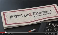 It's not too late to register for #Write2TheEnd. Sessions begin Monday, June 16. Register online via PayPal, or print off the page and bring your registration in at 6:00 p.m. Monday evening. Sessions run 6:30-8:30 Monday evenings thru August 4.