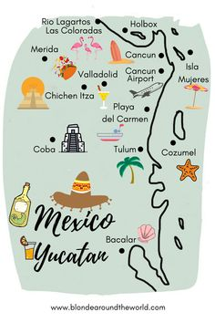 Our Itinerary for Mexico – Yucatan Cozumel, Merida, Tulum, Travel Articles, Mexico Travel, Amazing Destinations, 3 Weeks, Day Trips, Popular