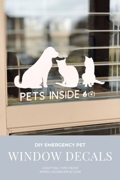 DIY Pet Window Decals For Emergency Responders - Organized-ish by Lela Burris - Tiere Window Decals, Window Art, Emergency Responder, Dog Whistle, Silhouette Projects, Silhouette Cameo, Vinyl Projects, Art Projects, Hamster