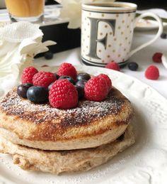 Yogurt Pancakes, Pancake Muffins, Pancake Day, Healthy Yogurt, Healthy Food, Good Food, Yummy Food, Healthy Recipes, Snacks