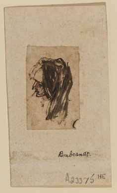 Head of an old woman by Rembrandt