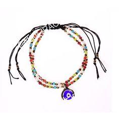 PULSEIRA OLHO TURCO MISSANGAS Beaded Necklace, Jewelry, Fashion, Seed Beads, Eyes, Bracelets, Charms, Beaded Collar, Moda